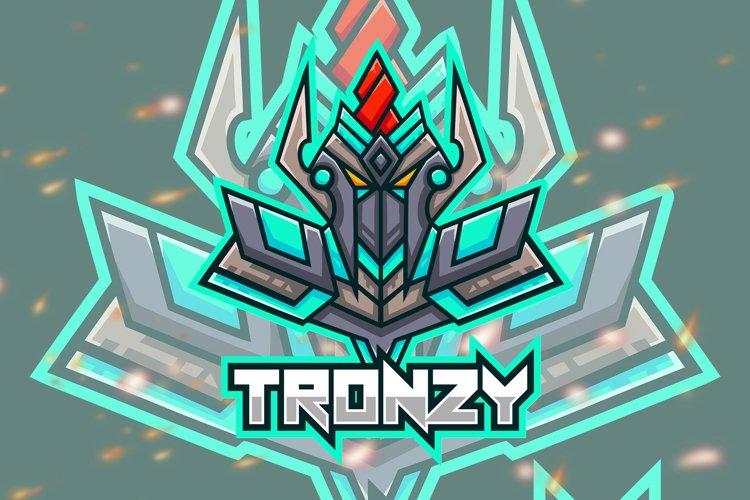 Tronzy Robot Esport Gaming Logo example image 1