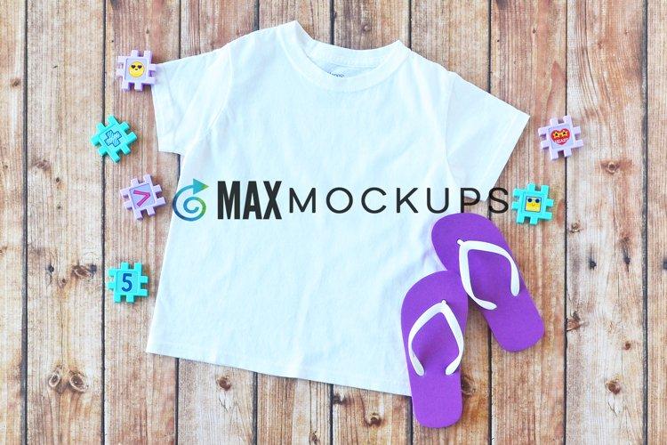 Kids t-shirt Mockup, purple, school, summer, abc flatlay
