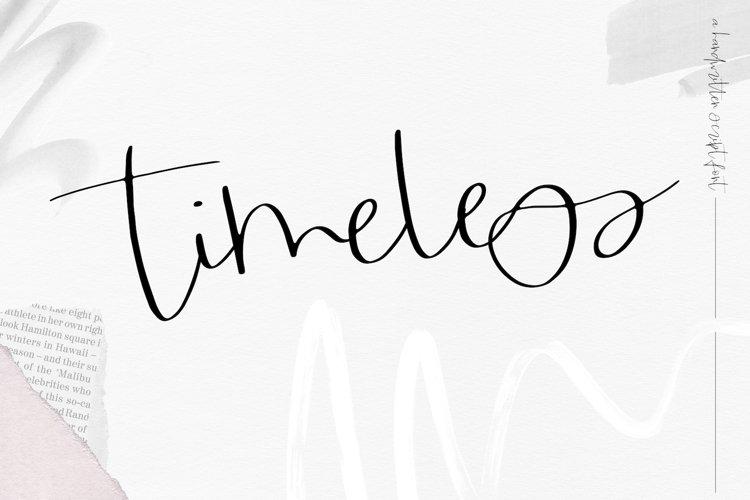 Timeless - Handwritten Script Font example image 1