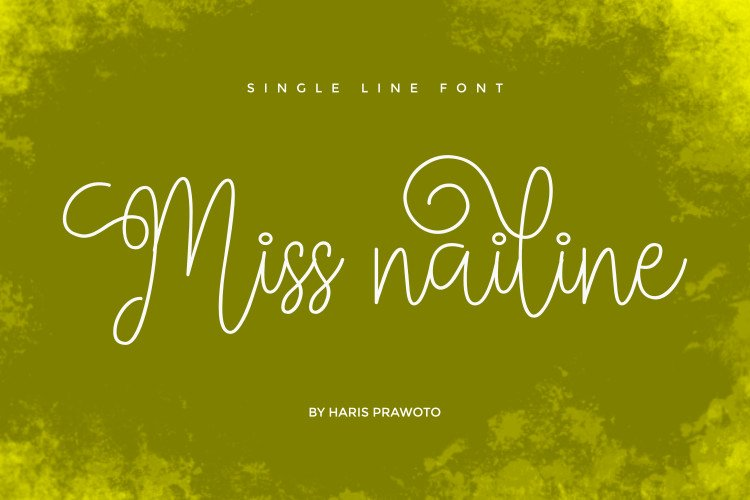 Miss Nailine - Single Line - Hair Line Font example image 1