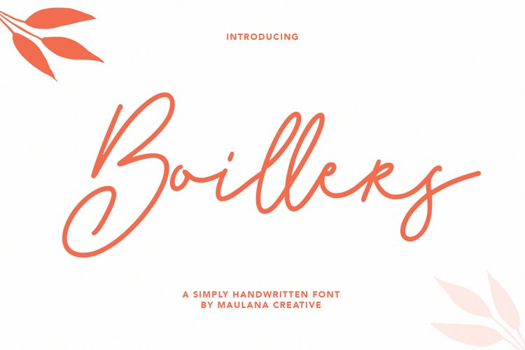 Boillers Simply Handwritten Font example image 1