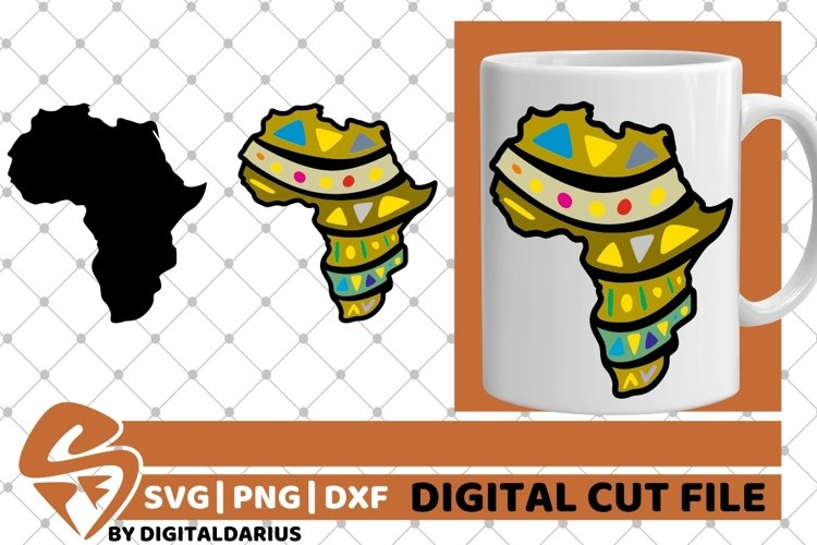 Africa Map svg, Black History svg, Afro svg, Black Woman svg example image 1