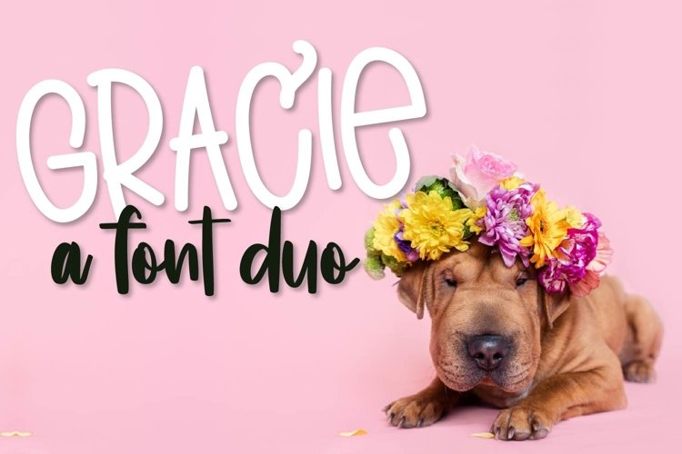 Web Font Gracie - A Font Duo example image 1