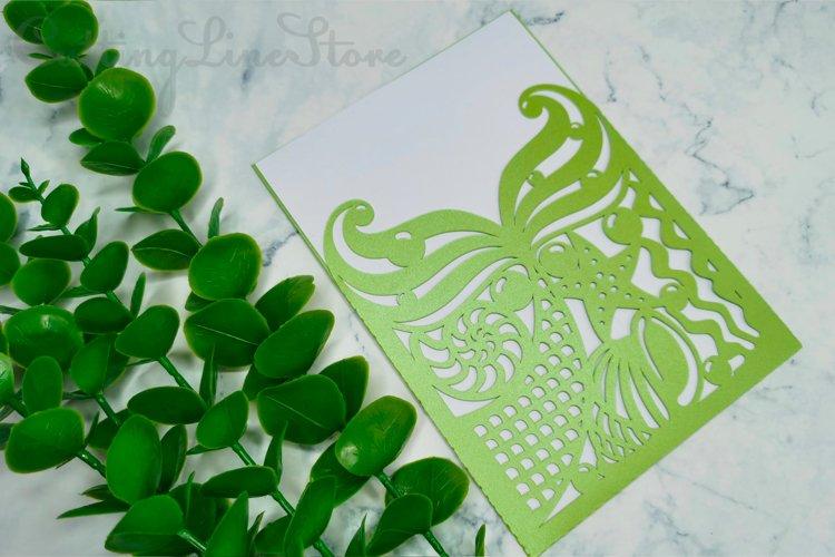 Mermaid birthday invitation template, Svg files for cricut