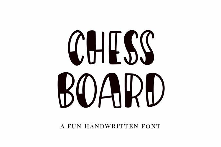 Web Font Chessboard, a playful handwritten font example image 1