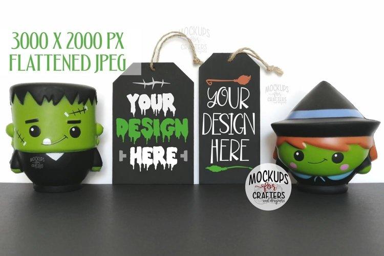 Hanging tags, Halloween theme, MOCK-UP