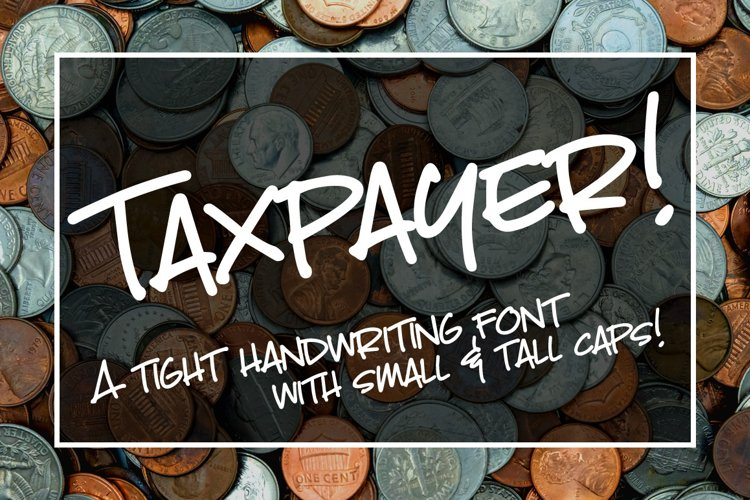Taxpayer - my own handwriting font! example image 1