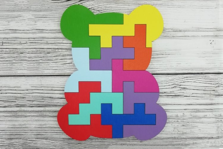 Educational jigsaw puzzle for children, Puzzle svg file