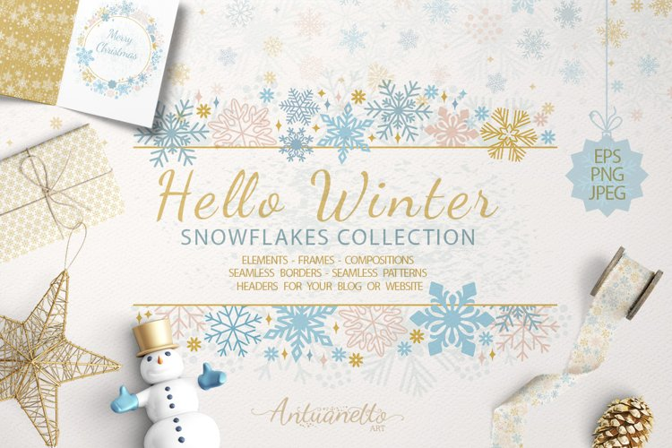 Sparkling snowflakes collection example image 1