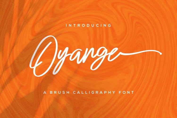 Oyange - Brush Calligraphy Font example image 1