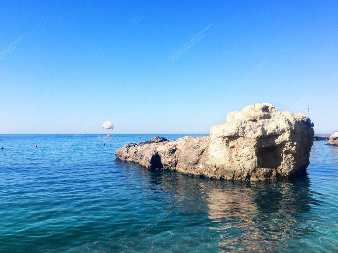 Seascape on the island of Crete, Greece