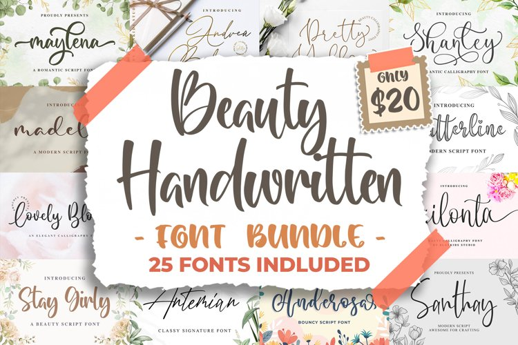 Beauty Handwritten Font Bundle example image 1