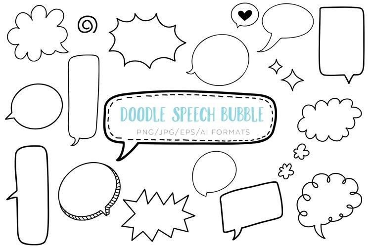 Doodle Speech Bubble Clipart