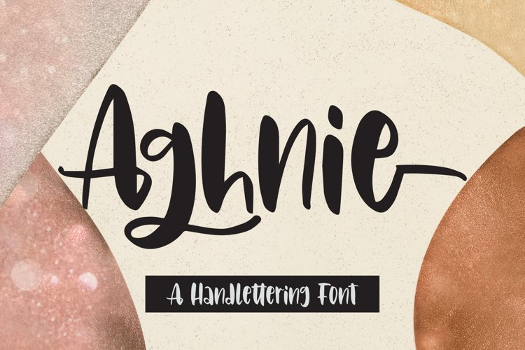 Aghnie - Handlettering Font example image 1