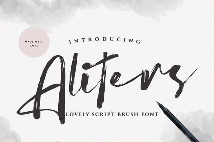 Aliters - Brush Font example image 1