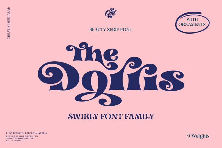 Dorris - Swirly font family example image 1
