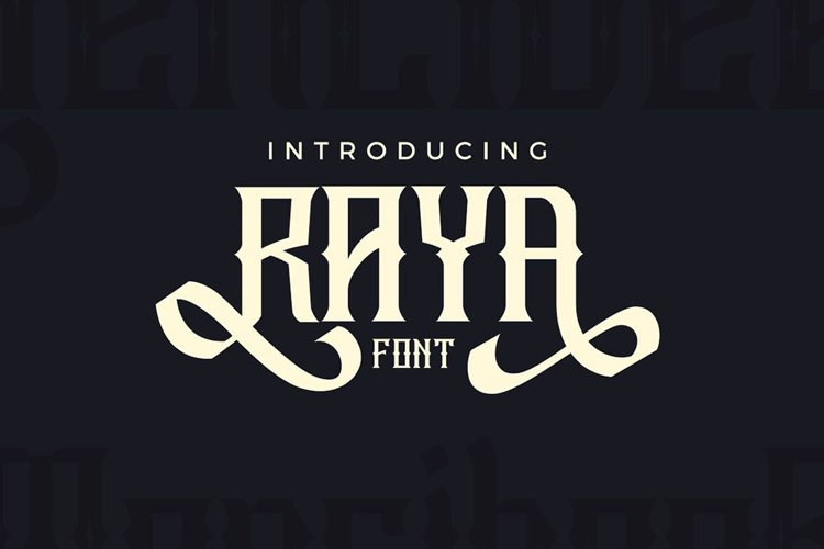 Raya Vintage Swash Font example image 1