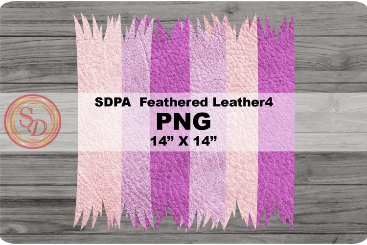 Sublimation Designs - background Feathered Leather4 example image 1