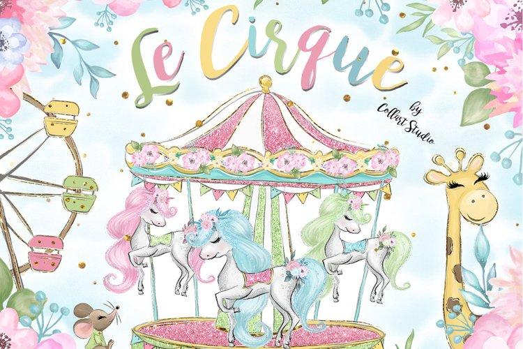 Circus clip art, Carneval illustrations, animal circus image