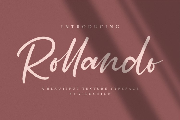 Rollando a texture typeface font example image 1