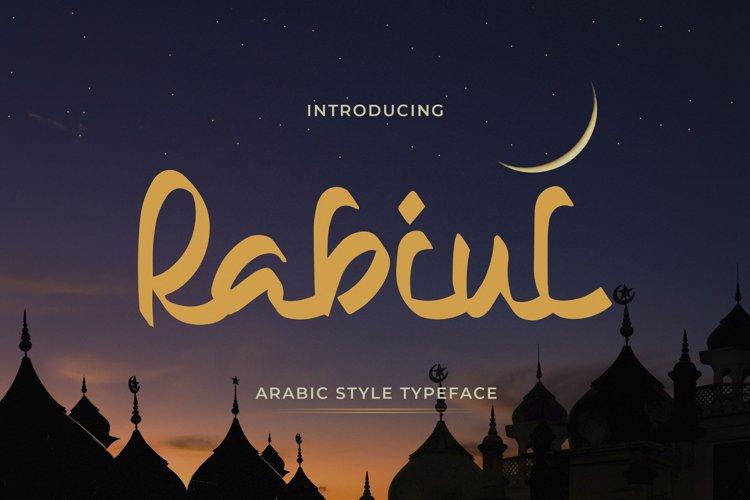 Rabiul - Arabic Style Typeface example image 1