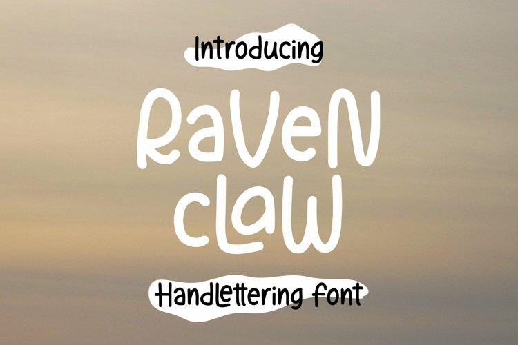 Web Font Ravenclaw - Handlettering Font example image 1