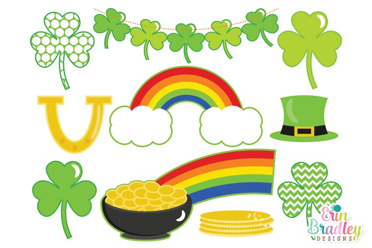 Shamrock Clipart - St. Patricks Day Clip Art Set