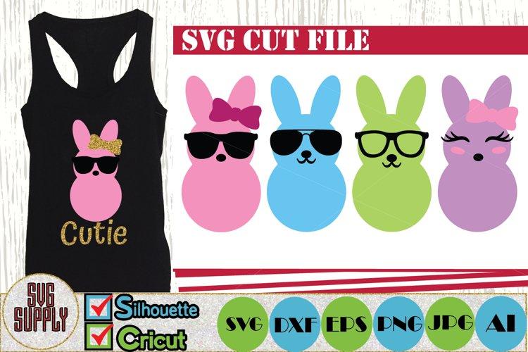 Cute Bunny Face SVG Cut File