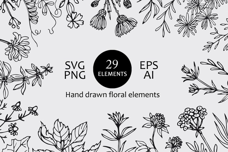 Wildflowers and herbs svg files for cricut.