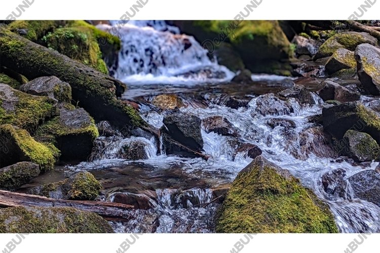 Stock Photo, Waterfall, Forest example image 1
