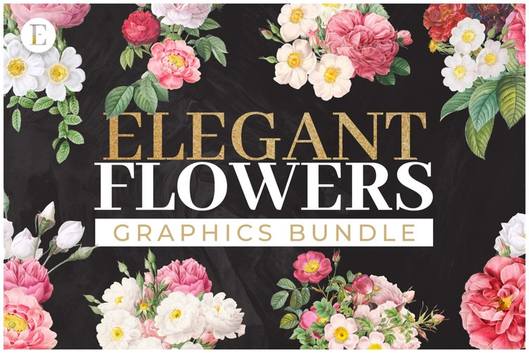 50 Elegant Flowers Graphics