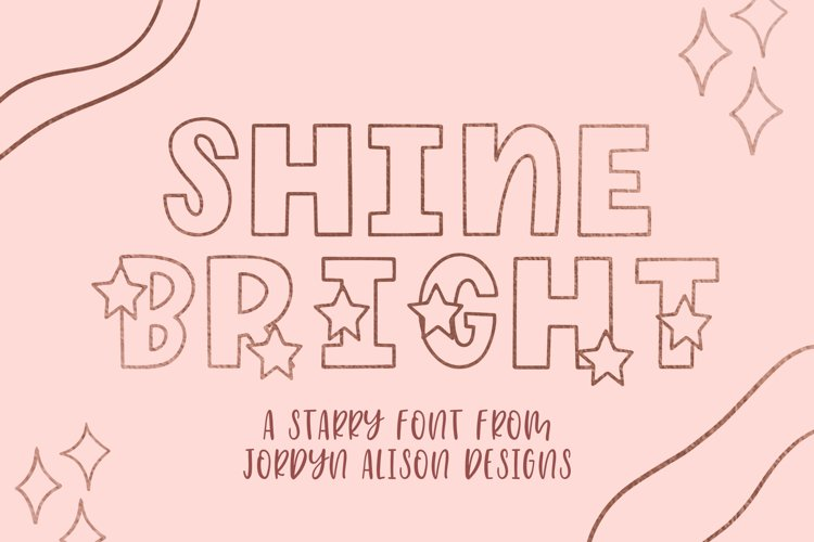 Shine Bright, Star Font example image 1