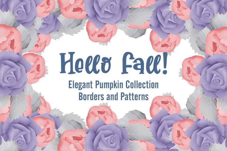 Pumpkin Borders and Patterns Collection example image 1