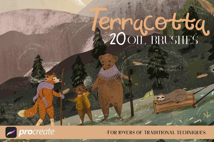 Terracotta - 20 oil brushes example image 1