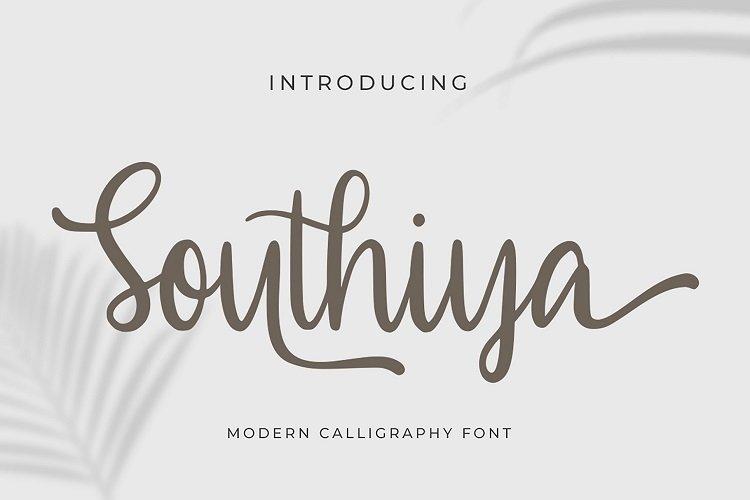 Southiya - Modern Calligraphy Font example image 1