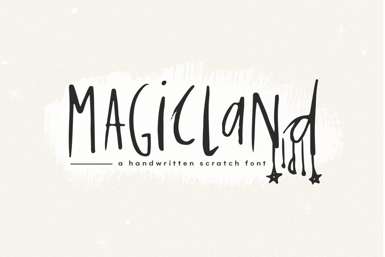 Magicland - A Handwritten Font example image 1