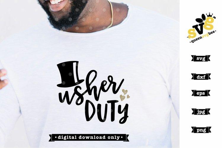 Usher Duty SVG design | Bridal Party SVG file