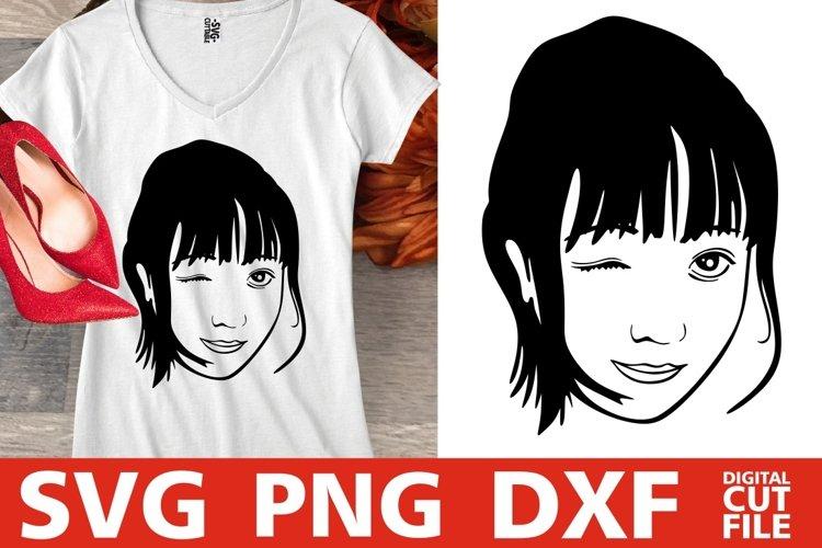 Sweet Asian Girl svg, Japan svg, Filipino svg, Korean svg example image 1