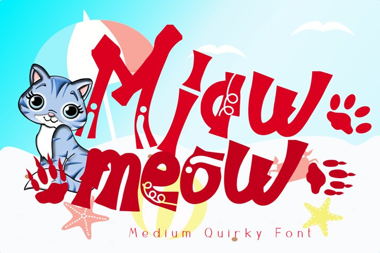 Miawmeow Quirky Cute Display example image 1