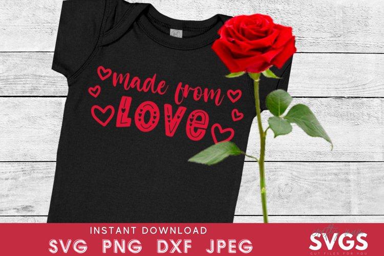 Kids valentines svg | made from love svg | baby vest svg