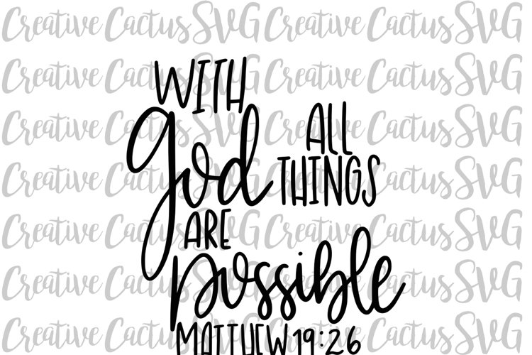With God All Things are Possible SVG example image 1