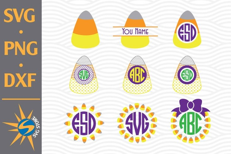 Candy Corn Monogram SVG, PNG, DXF Digital Files Include example image 1