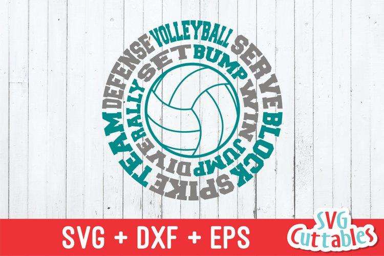 Volleyball SVG | Volleyball round Subway Art | Shirt Design