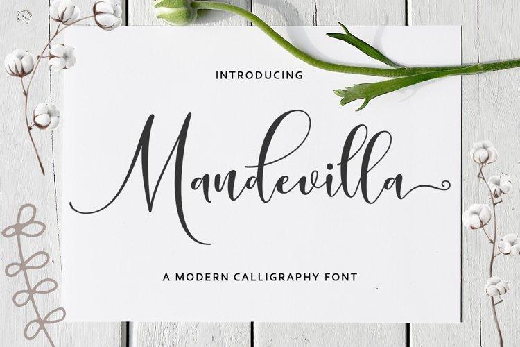 Mandevilla Script example image 1