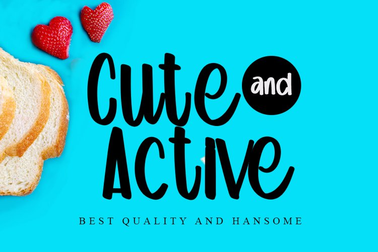 Cute and Active - Beauty Handwritten Font example image 1