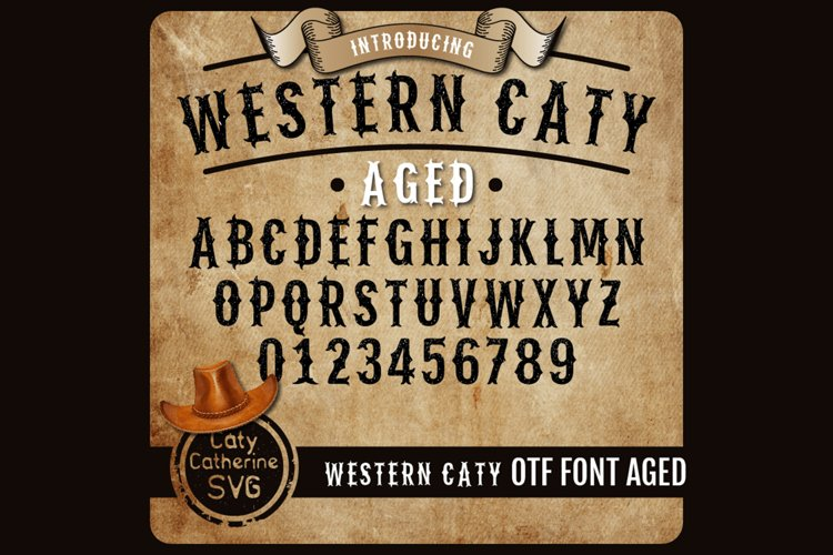Western Caty Font Family Aged Distressed OTF Font example image 1