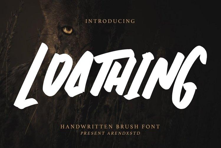 Loathing - Brush Font example image 1