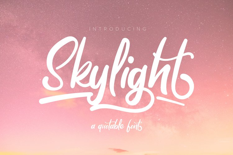 Skylight | A Quotable Font example image 1