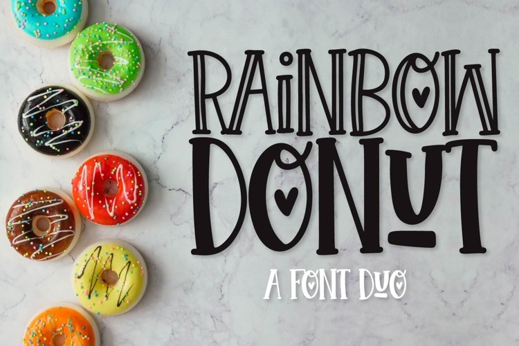 Rainbow Donut - A Silly inline and thick duo example image 1
