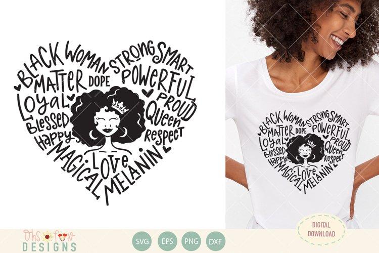 Black woman queen typography SVG,